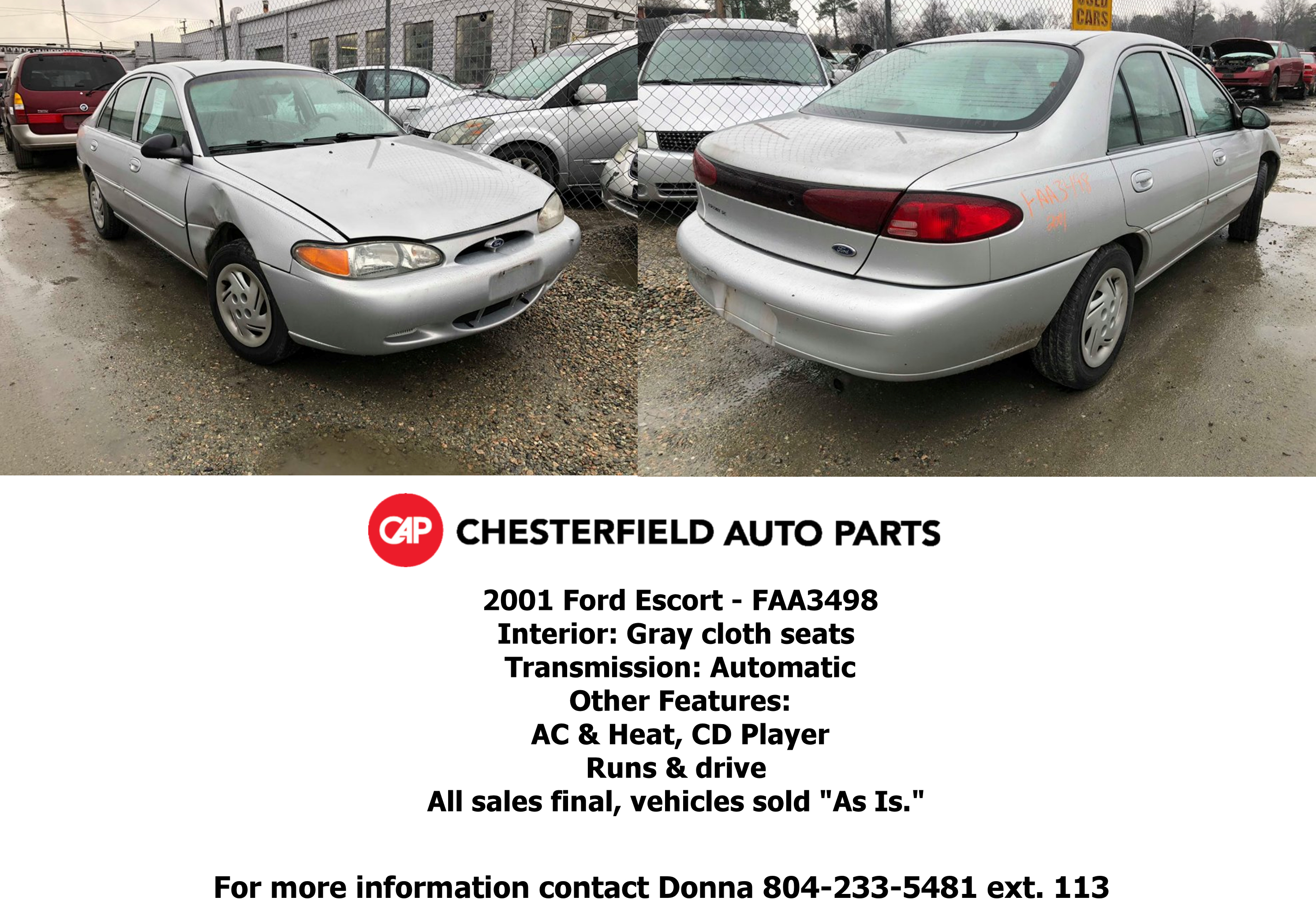 Vehicles for Sale – Richmond Location – Chesterfield Auto Parts